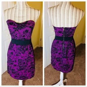 Silence + Noise purple strapless dress